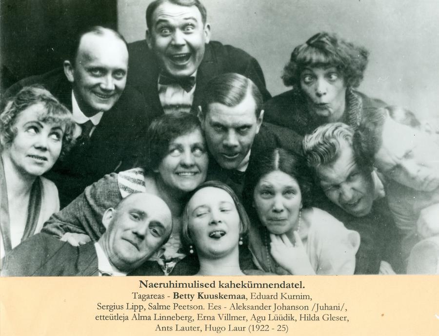 Betty Kuuskemaa, Eduard Kurnim, Sergius Lipp, Salme Peetson, Aleksander Johanson, Alma Linneberg, Erna Villmer, Agu Lüüdik, Hilda Gleser, Ants Lauter, Hugo Laur (1922-1925)