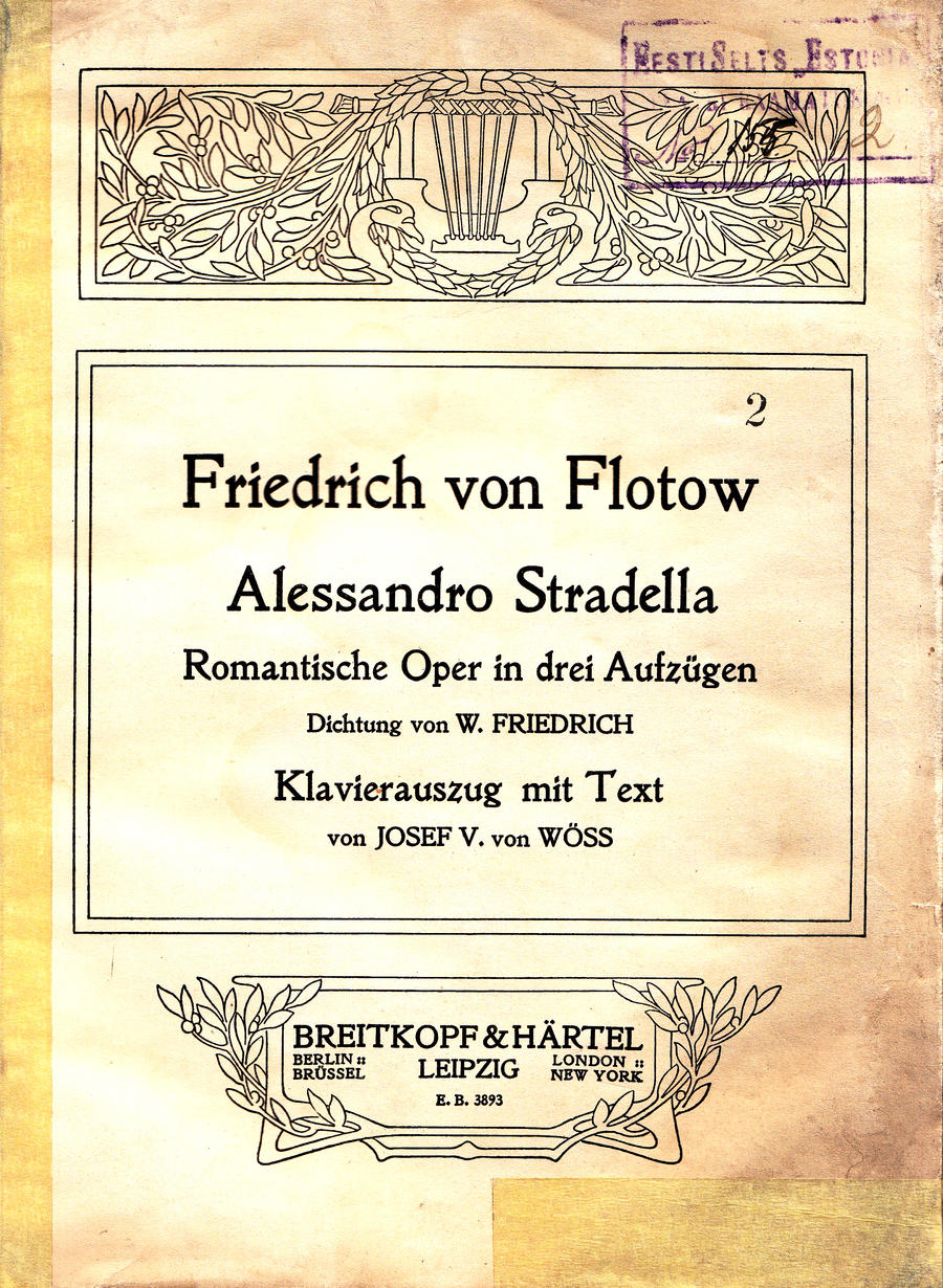 Flotow Alessandro Stradella