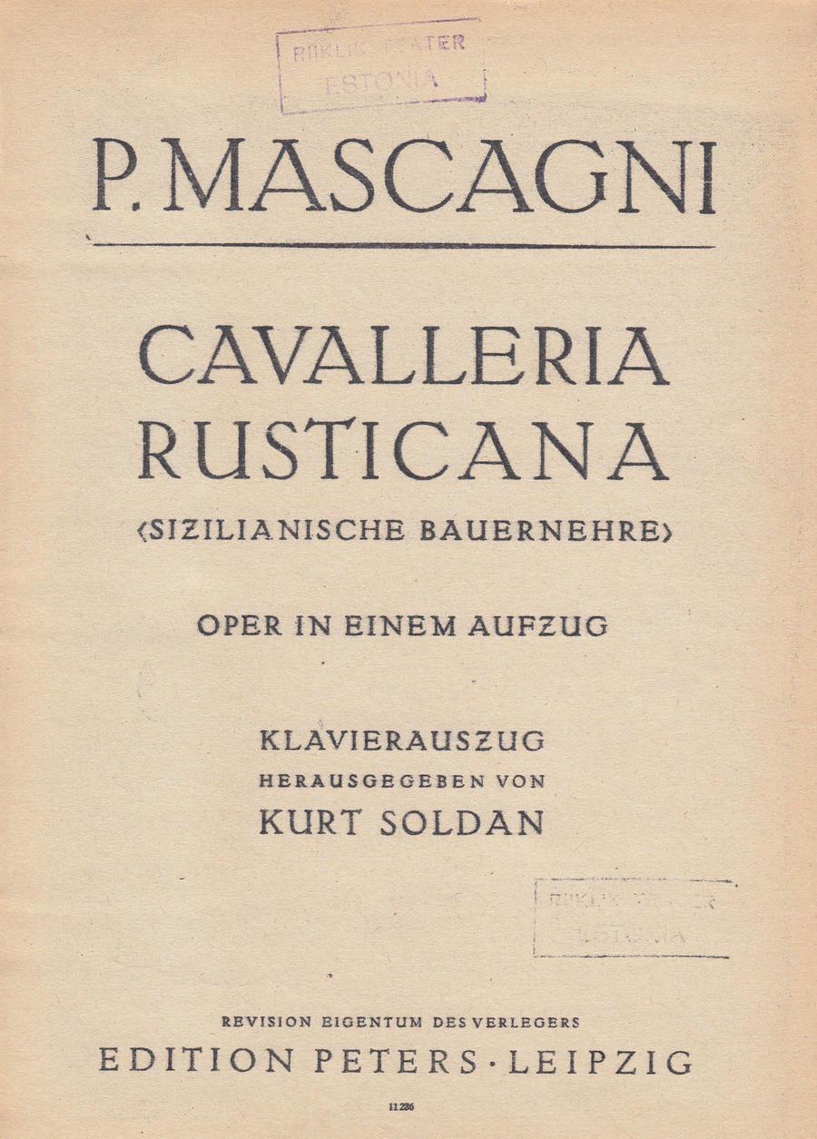 Mascagni Cavalleria rusticana