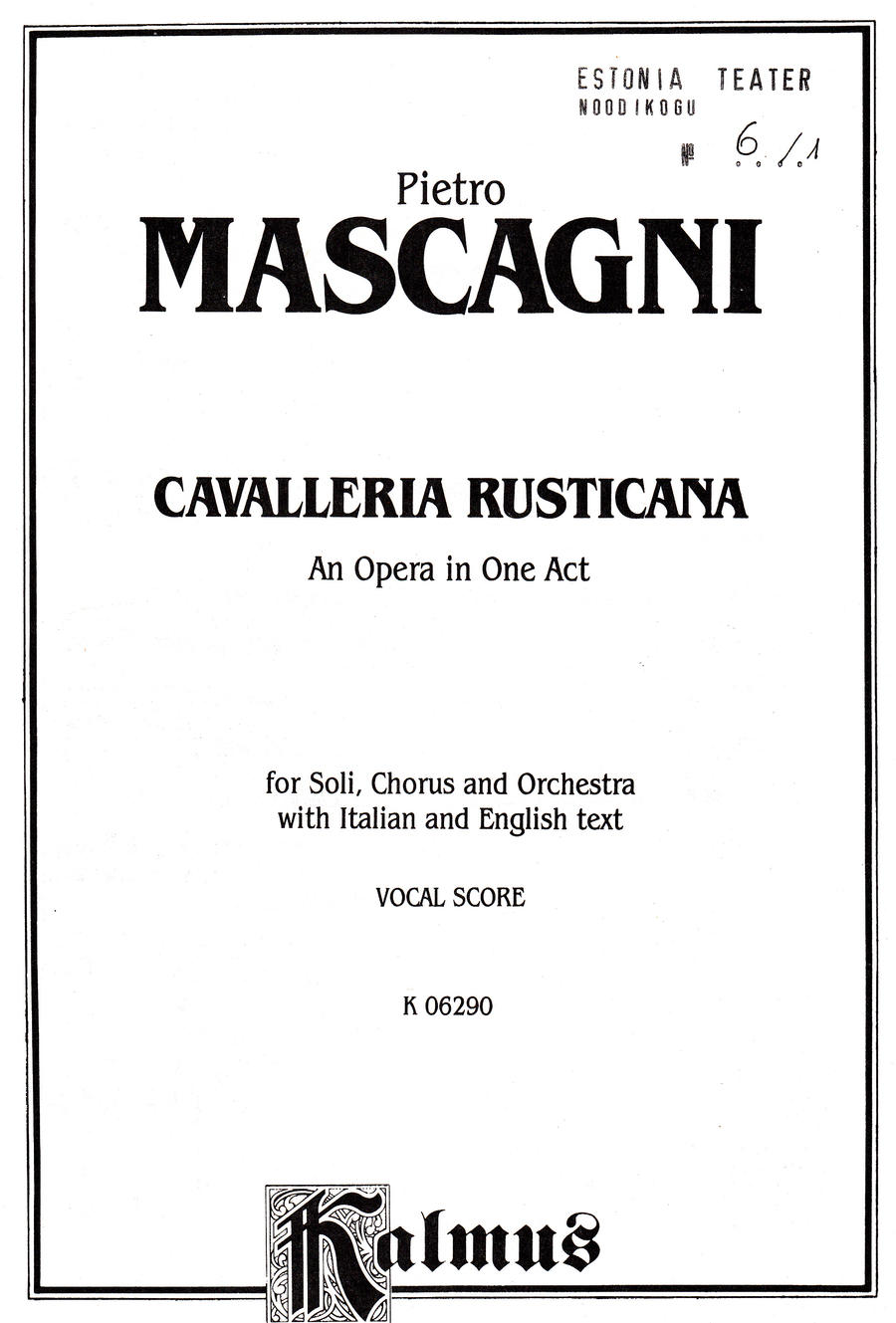 Mascagni Cavalleria rusticana 3