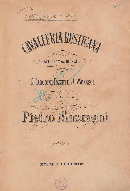 Mascagni Cavalleria rusticana 6