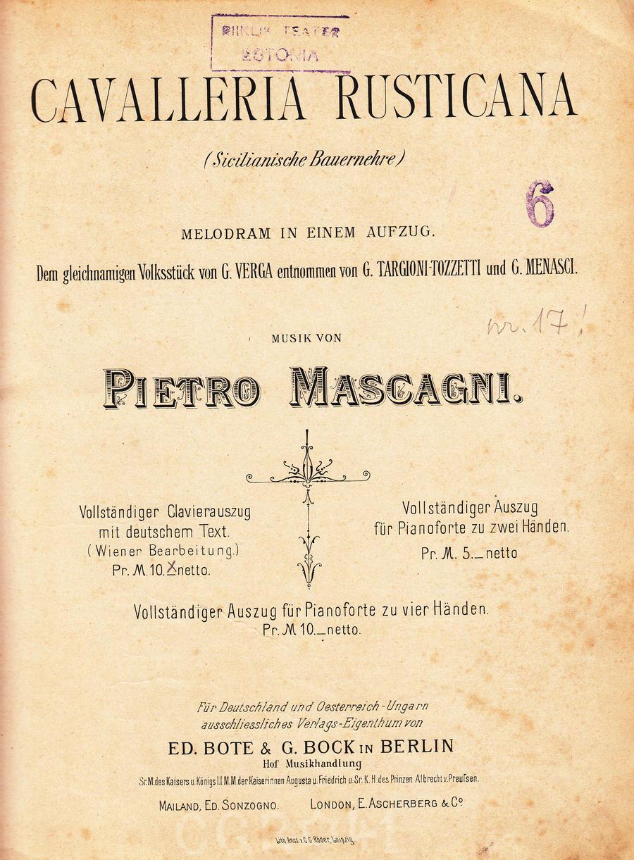 Mascagni Cavalleria rusticana 9