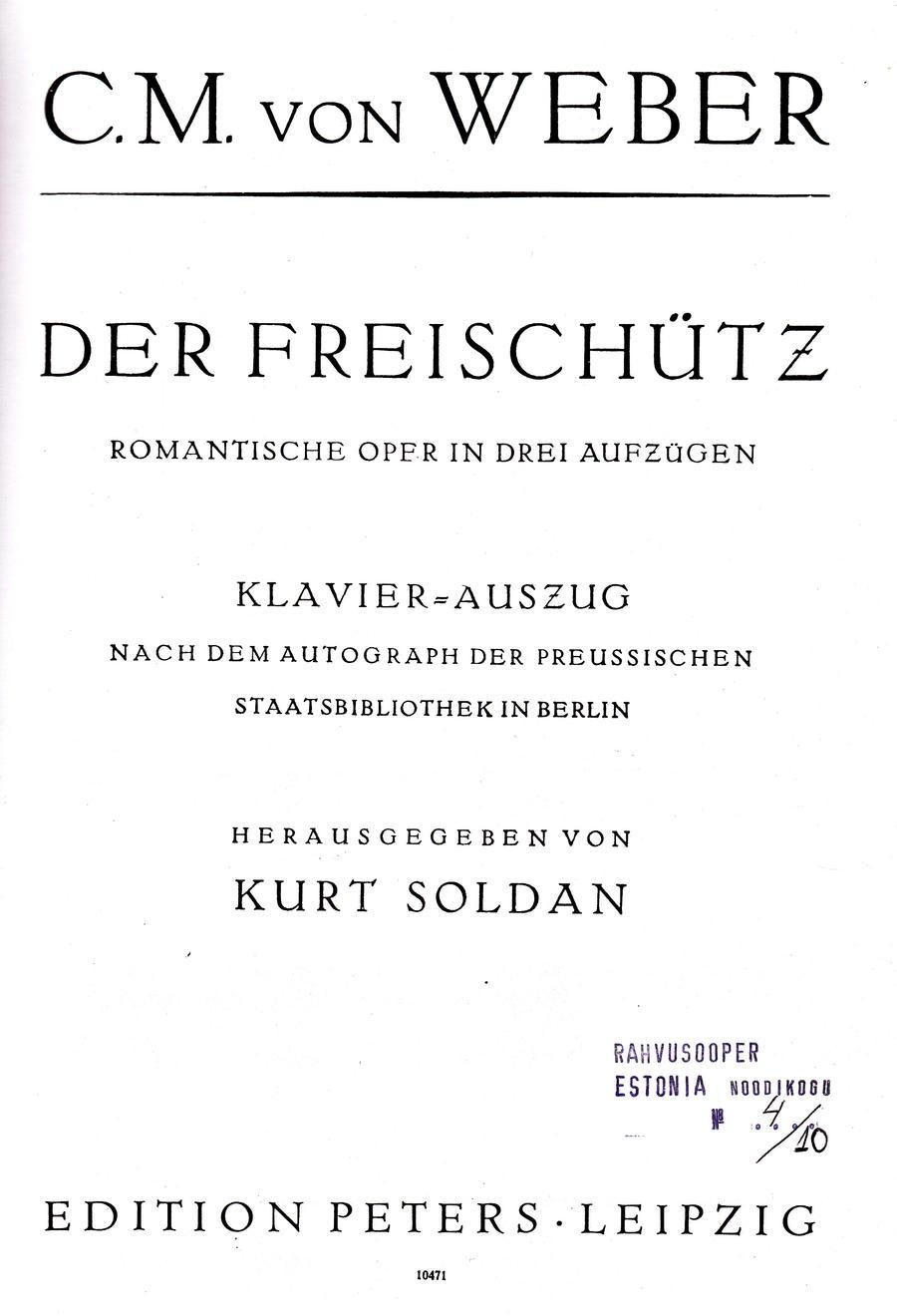 Weber Der Freischütz