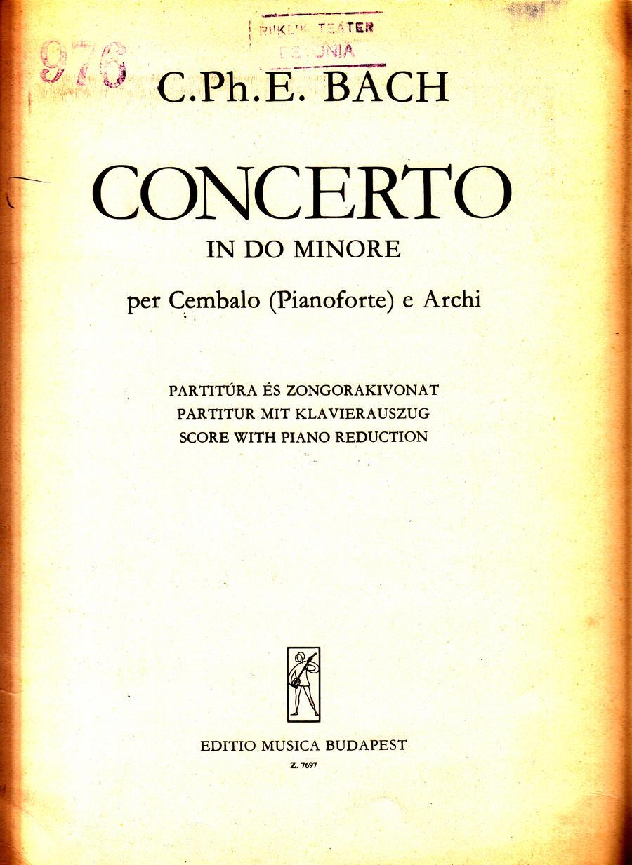 C. Ph. E. Bach - Concerto c-moll per cembalo_0001