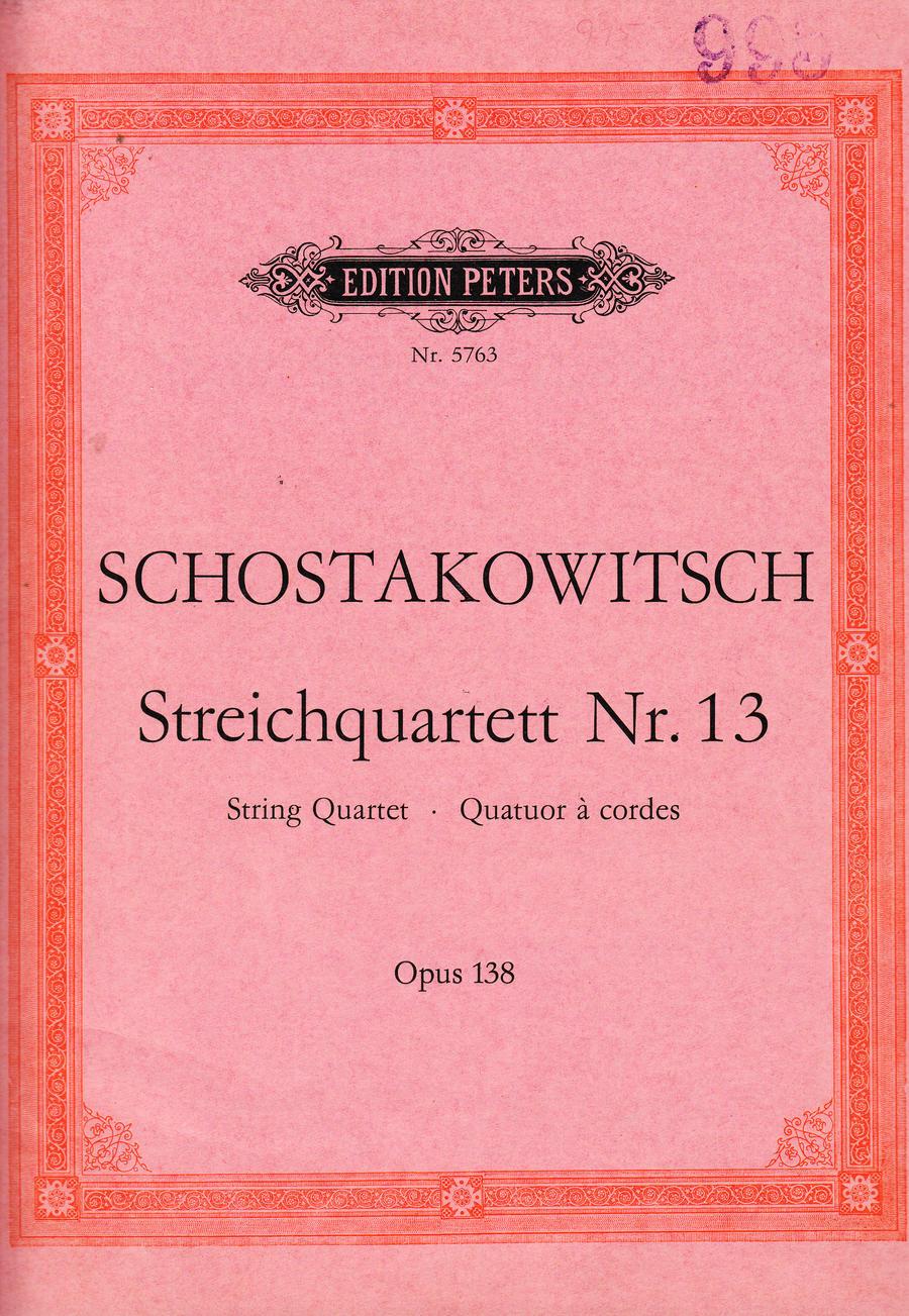 Šostakovitš Keelpillikvartett nr 13_0001