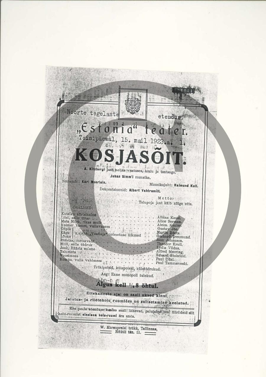 Kosjasõit_kava