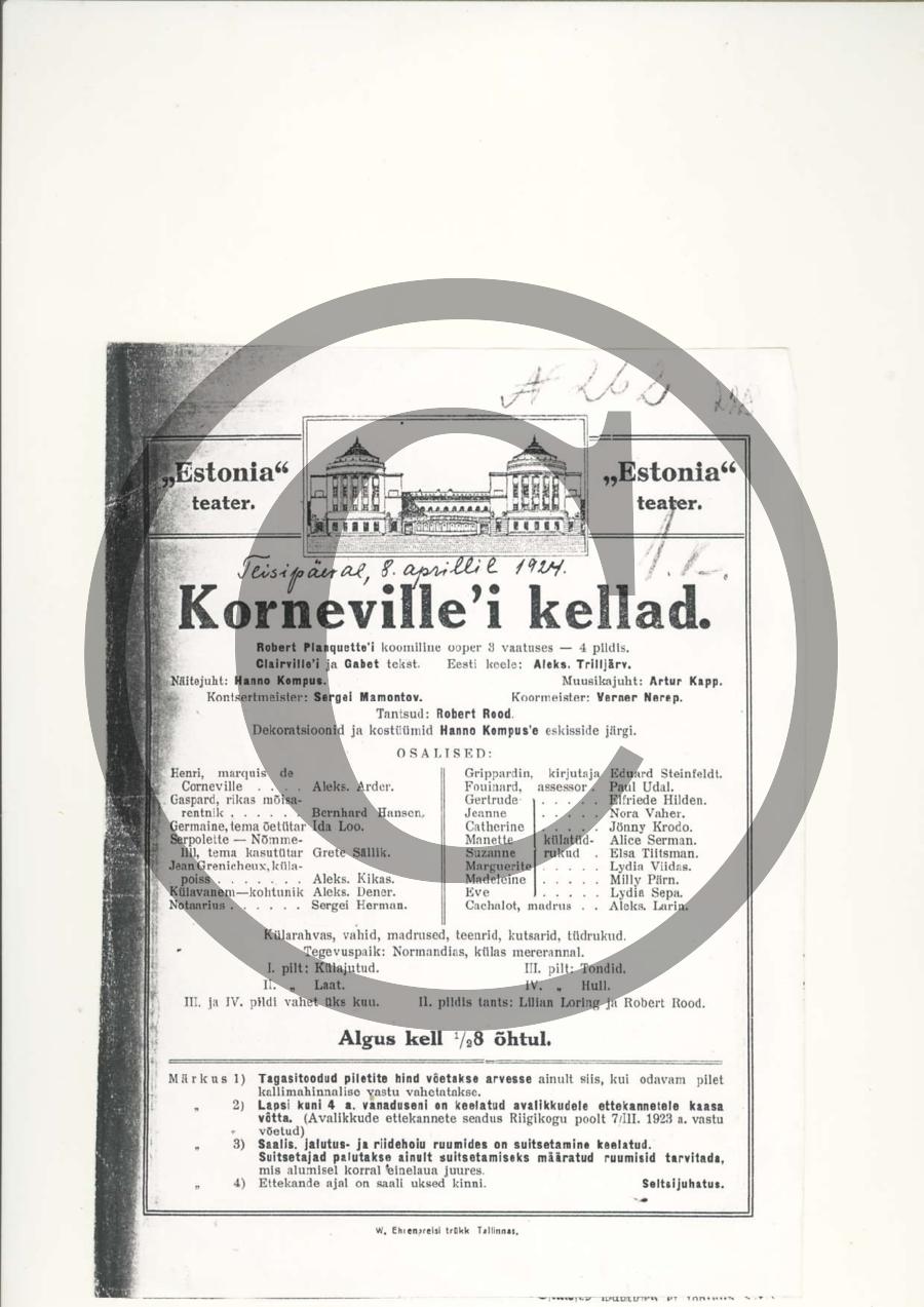 Korneville'i kellad_kava