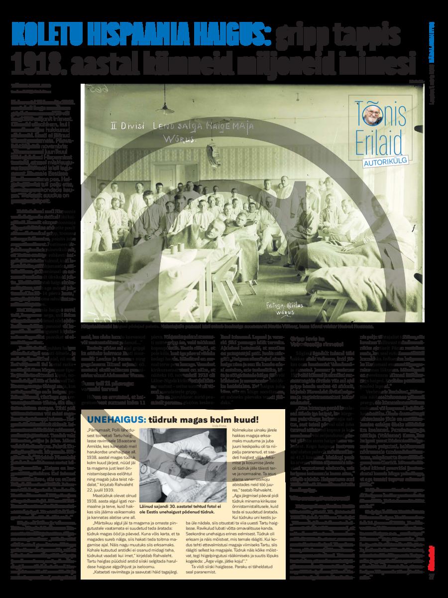 Koletu Hispaania haigus- gripp tappis 1918. aastal kümneid miljoneid inimesi