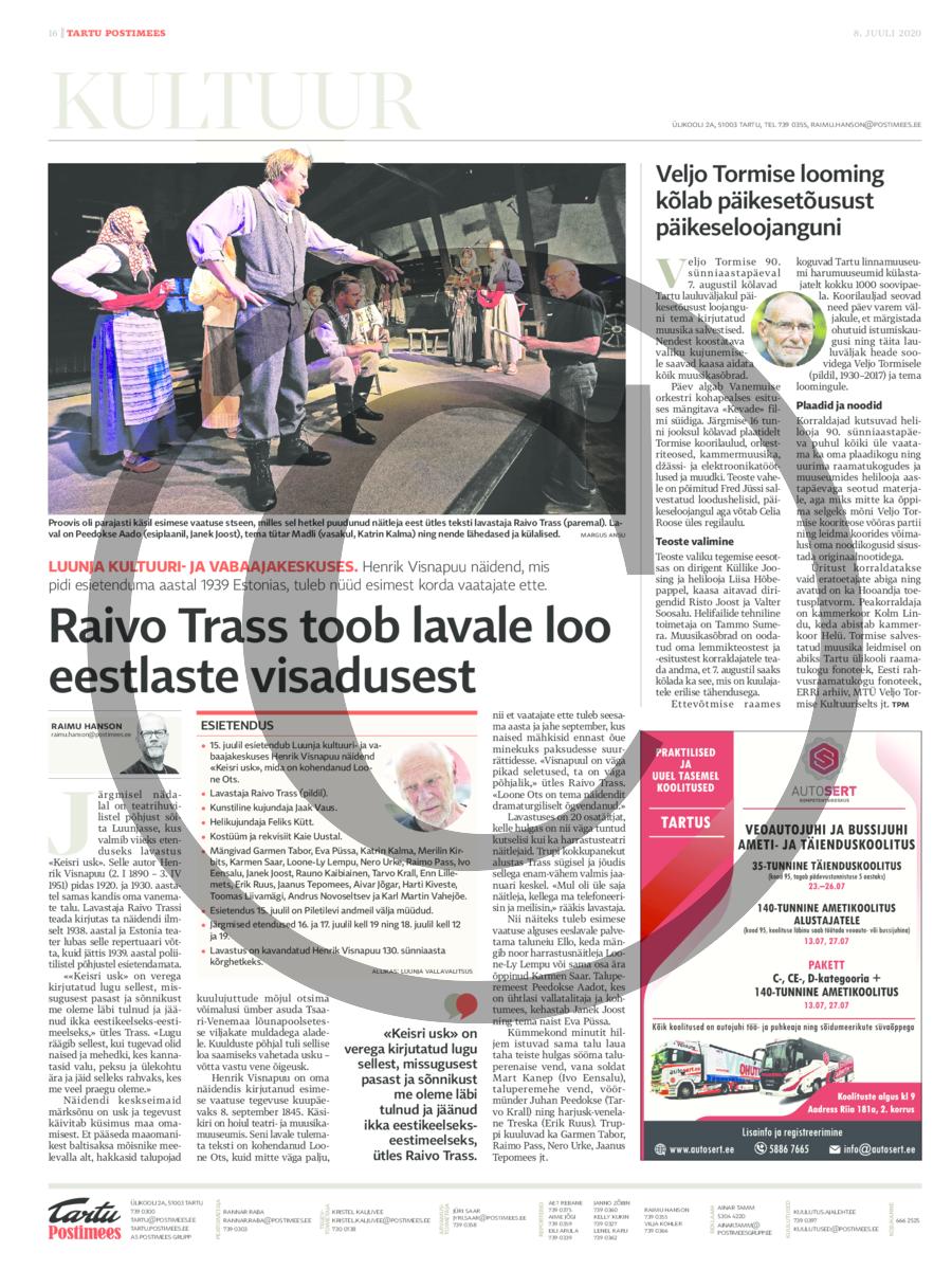 Raivo Trass toob lavale loo eestlaste visadusest