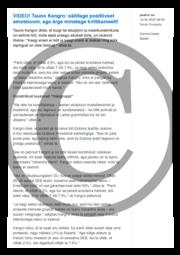 Tauno Kangro- säilitage positiivset emotsiooni aga ärge minetage kriitikameelt.pdf